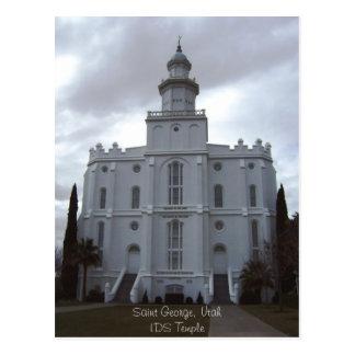 Saint George LDS Temple Postcard