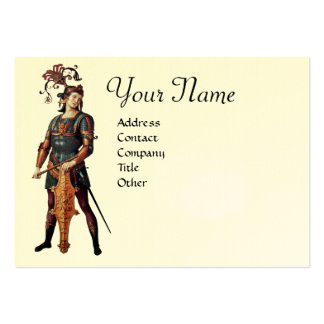 SAINT GEORGE Monogram,Egg shell Large Business Cards (Pack Of 100)