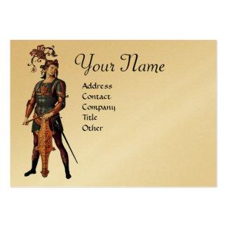 SAINT GEORGE Monogram, Gold Metallic paper Business Card Template