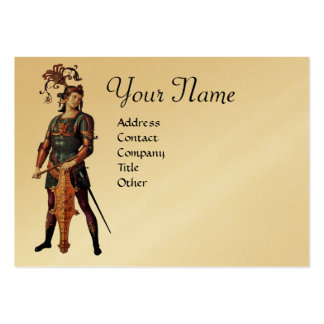 SAINT GEORGE Monogram, Gold Metallic paper Large Business Cards (Pack Of 100)