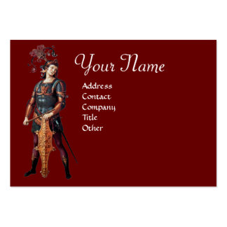 SAINT GEORGE Monogram,Red Black Large Business Cards (Pack Of 100)