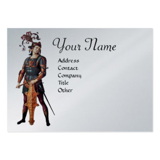 SAINT GEORGE Monogram, Silver Platinum paper Large Business Cards (Pack Of 100)