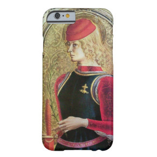 SAINT GEORGE PORTRAIT ,Red,Black,Gold Yellow Barely There iPhone 6 Case