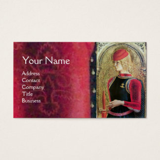 SAINT GEORGE PORTRAIT ,Red,Black,Gold Yellow Business Card