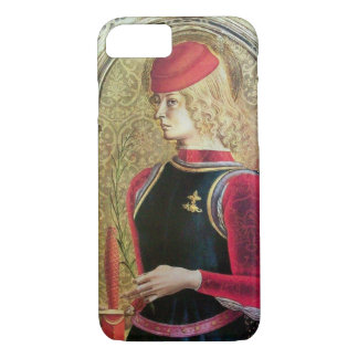 SAINT GEORGE PORTRAIT ,Red,Black,Gold Yellow iPhone 8/7 Case