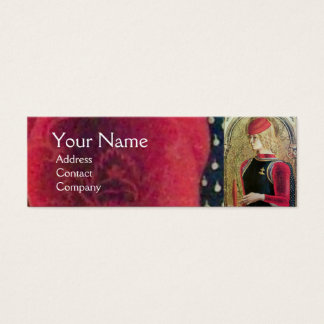 SAINT GEORGE PORTRAIT ,Red,Black,Gold Yellow Mini Business Card