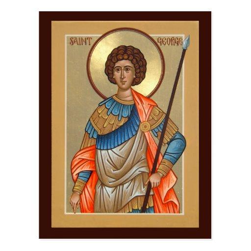 Saint George Prayer Card Postcards
