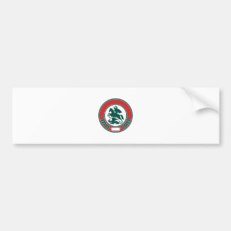 Saint George Slaying Dragon Circle Retro Bumper Sticker