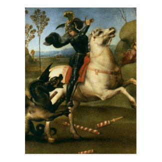 Saint George Struggling with the Dragon Postcard