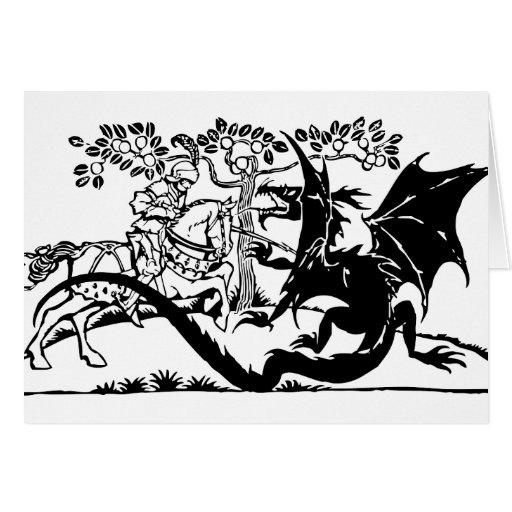 Saint George & The Dragon Greeting Card