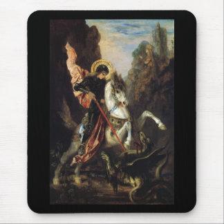 Saint George & the Dragon Gustave Moreau Fine Art Mouse Pad