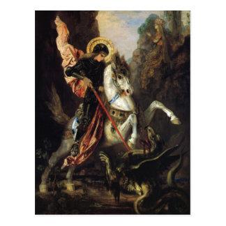 Saint George & the Dragon Gustave Moreau Fine Art Postcard