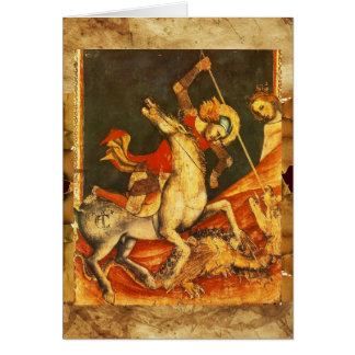 Saint George's Battle with the Dragon Greeting Card