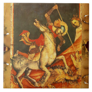 Saint George's Battle with the Dragon Ceramic Tile