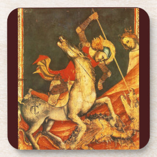 Saint George's Battle with the Dragon Drink Coasters