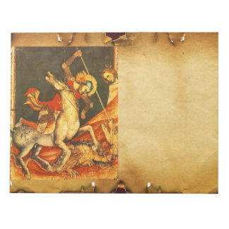 Saint George's Battle with the Dragon Memo Notepads
