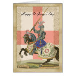 Saint George's Day card, St. George carda