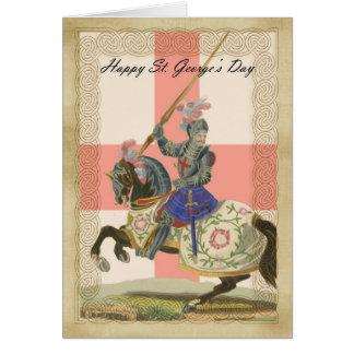 Saint George's Day card, St. George carda