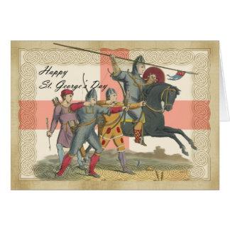 Saint George's Day card, St. George, Knight Card