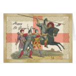 Saint George's Day card, St. George, Knight Greeting Card