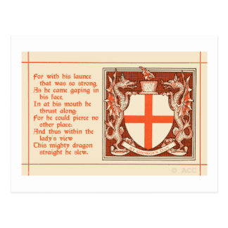 Saint George's Day Postcard