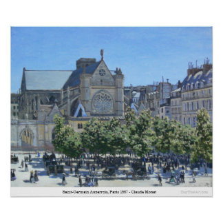 Saint-Germain Auxerrois, Paris 1867 - Claude Monet Poster