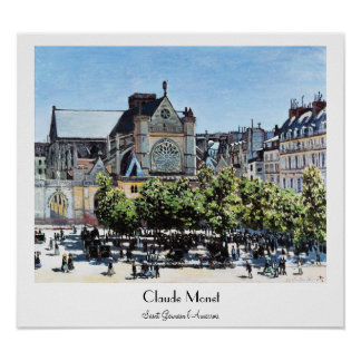 Saint Germain l'Auxerrois Claude Monet Poster