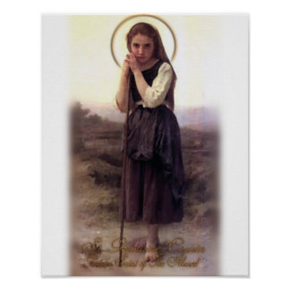 Saint Germaine Patron Saint of The Abused Poster