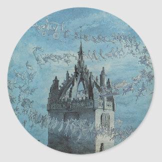 Saint Giles - His Bells by Charles Altamont Doyle Classic Round Sticker
