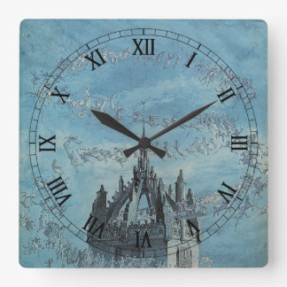 Saint Giles - His Bells by Charles Altamont Doyle Square Wall Clock