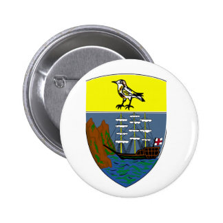 Saint Helena Coat of Arms Button
