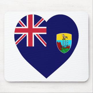 Saint Helena Flag Heart Mouse Pad