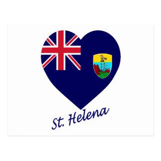 Saint Helena Flag Heart Postcard