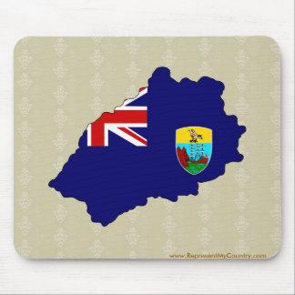 Saint Helena Flag Map full size Mouse Pad