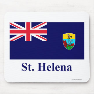 Saint Helena Flag with Name Mouse Pad