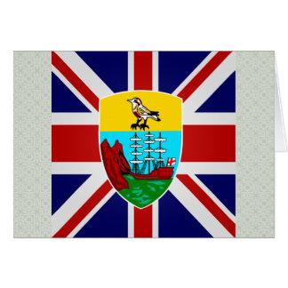 Saint Helena High quality Flag Greeting Card