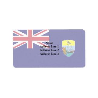 Saint Helena, United Kingdom Address Label