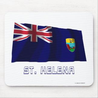 Saint Helena Waving Flag with Name Mouse Pad