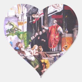 Saint Ignatius Loyola Heart Sticker