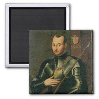 Saint Ignatius of Loyola 2 Inch Square Magnet