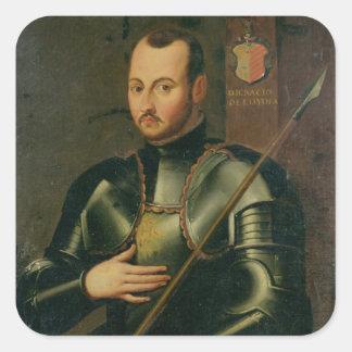 Saint Ignatius of Loyola Square Sticker