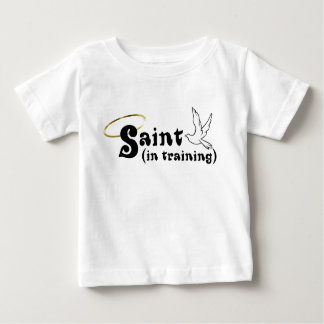 Saint in Training baby tee with wings