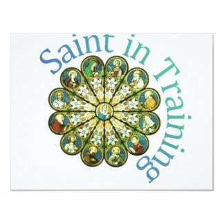 "Saint in Training 4.25"" X 5.5"" Invitation Card"