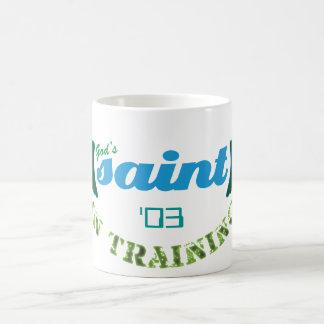 Saint in Training mug (blue)