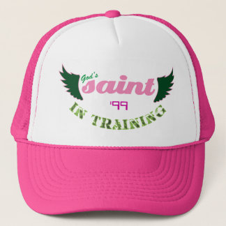 Saint in Training (pink) hat