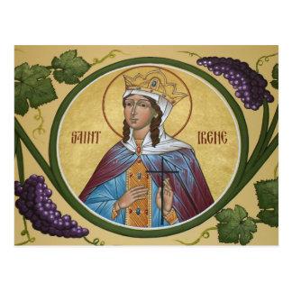 Saint Irene Prayer Card Postcards