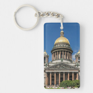 Saint Isaac's Cathedral in Saint Petersburg Russia Double-Sided Rectangular Acrylic Keychain