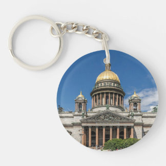 Saint Isaac's Cathedral in Saint Petersburg Russia Double-Sided Round Acrylic Keychain