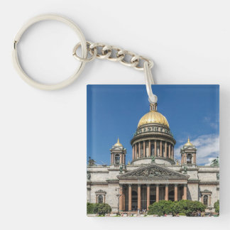Saint Isaac's Cathedral in Saint Petersburg Russia Double-Sided Square Acrylic Keychain