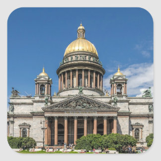Saint Isaac's Cathedral in Saint Petersburg Russia Square Sticker